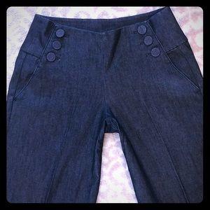Sailor style wide leg jeans